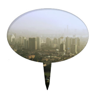 Seoul From Above Urban Photo Cake Topper