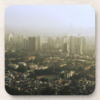 Seoul From Above Urban Photo Beverage Coasters