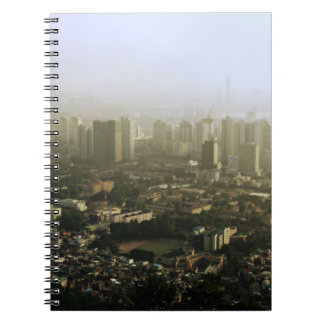 Seoul From Above Urban Photo Design Spiral Notebook