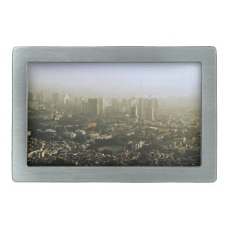 Seoul From Above Urban Photo Rectangular Belt Buckle