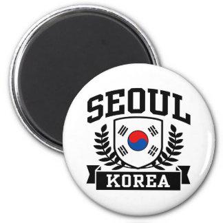 Seoul Korea 2 Inch Round Magnet