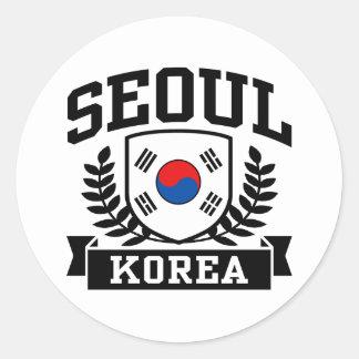 Seoul Korea Classic Round Sticker