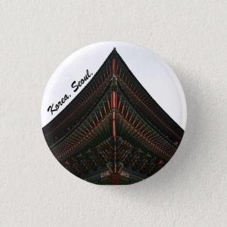 seoul korea photography pinback button