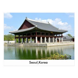 seoul korea postcard