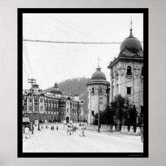 Seoul, Korea Street Scene 1912 Poster