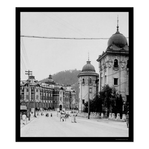 Seoul, Korea Street Scene 1912 Print