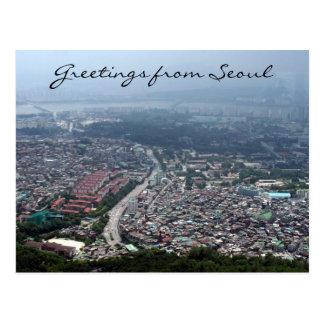seoul korea view postcards