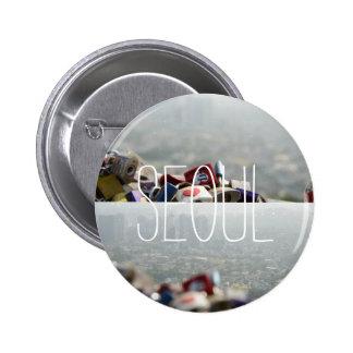 Seoul Love Locks Pinback Button
