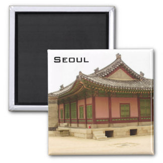 Seoul 2 Inch Square Magnet