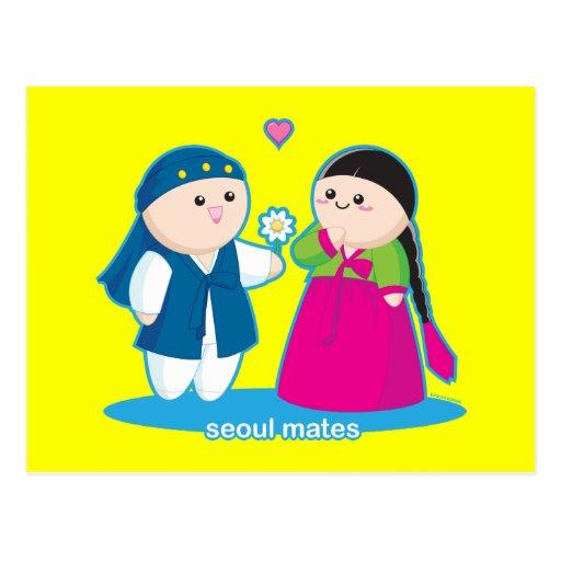 Seoul Mates Postcard