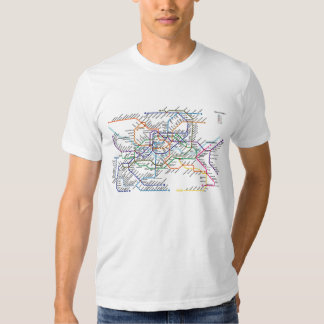 Seoul Metro Map Fitted T-Shirt