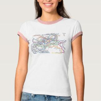 Seoul Metro Map Ringer T-Shirt
