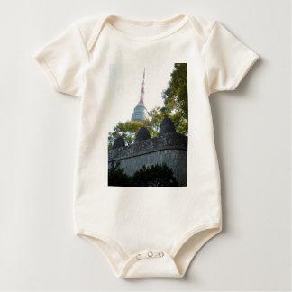 Seoul Namsan Tower through the Beacons Baby Bodysuit