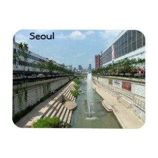 Seoul Rectangular Photo Magnet