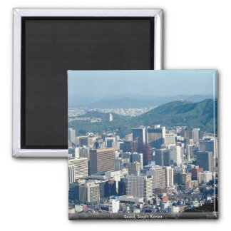 Seoul, South Korea 2 Inch Square Magnet
