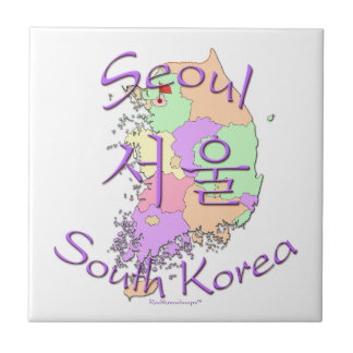 Seoul South Korea Ceramic Tile