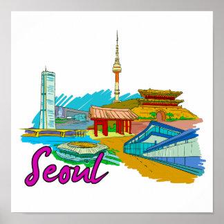Seoul - South Korea.png Poster