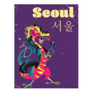 Seoul South Korean travel poster Postcard