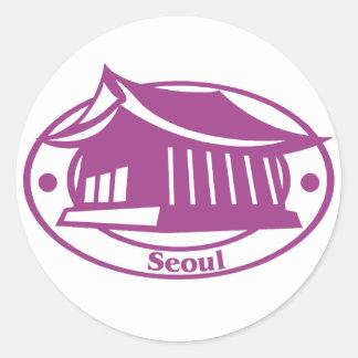 Seoul Stamp Classic Round Sticker