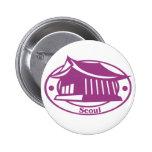 Seoul Stamp Pinback Button