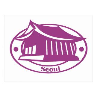 Seoul Stamp Postcard