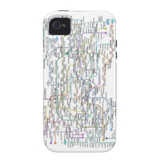 Seoul Subway Map Case-Mate iPhone 4 Covers