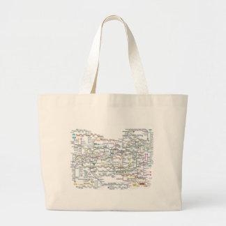 Seoul Subway Map Large Tote Bag