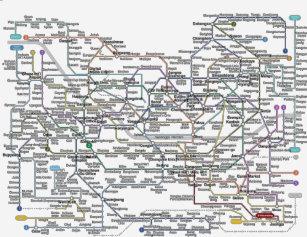 Seoul Subway Map 1989.Korea Map Gifts On Zazzle