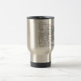 Seoul Subway Map Travel Mug