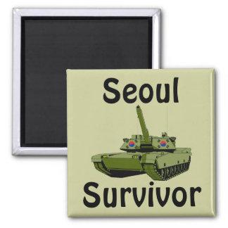 Seoul Survivor 2 Inch Square Magnet