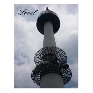seoul tower postcards