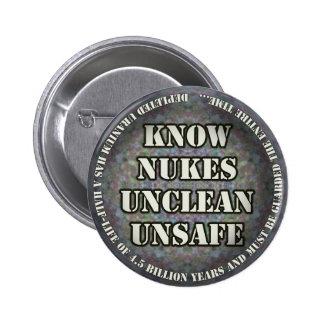 Sepa el botón de las armas nucleares pin redondo de 2 pulgadas