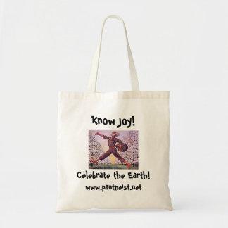 ¡Sepa la alegría! Tote Bolsa Tela Barata