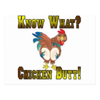 ¿Sepa lo que?  ¡Extremo del pollo! Postal