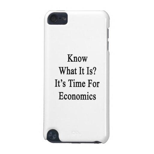 Sepa que cuáles es es hora para la economía funda para iPod touch 5G