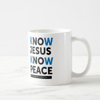 Sepa que Jesús sabe la paz, ninguna censura Taza