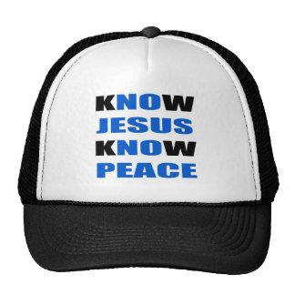 sepa que Jesús sabe paz Gorras