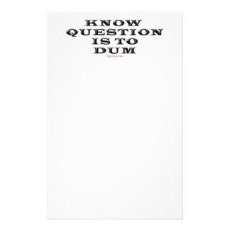 Sepa que la pregunta está a la libreta de Dum Papelería De Diseño