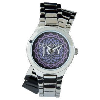 """""""Sepa reloj de Chakra de la corona de su alegría"""""""