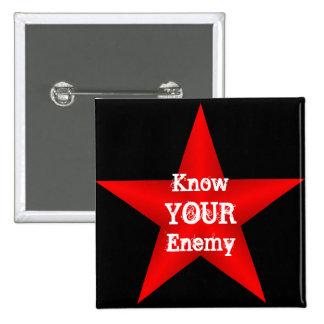 Sepa su botón enemigo pin cuadrado