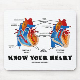 Sepa su corazón (la anatomía del corazón) alfombrilla de ratones