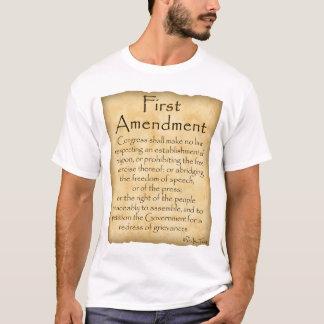 Sepa su Derecho-Primera enmienda Playera