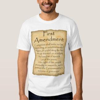 Sepa su Derecho-Primera enmienda Playeras