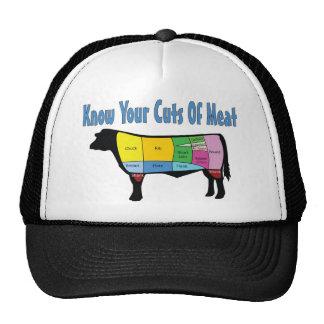 Sepa sus cortes de la carne gorra