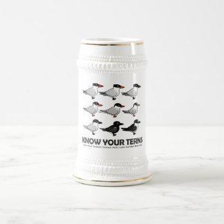 Sepa sus golondrinas de mar jarra de cerveza