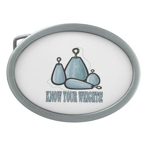 Sepa sus pesos hebillas cinturón ovales