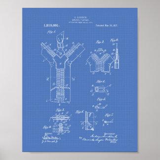Separable Fastener 1917 Patent Art Blueprint Poster