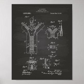 Separable Fastener 1917 Patent Art Chalkboard Poster