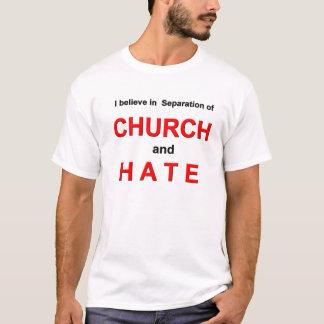 Separación de iglesia y de camiseta del odio