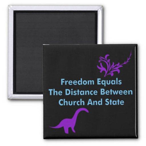 Separación de iglesia y estada imán cuadrado